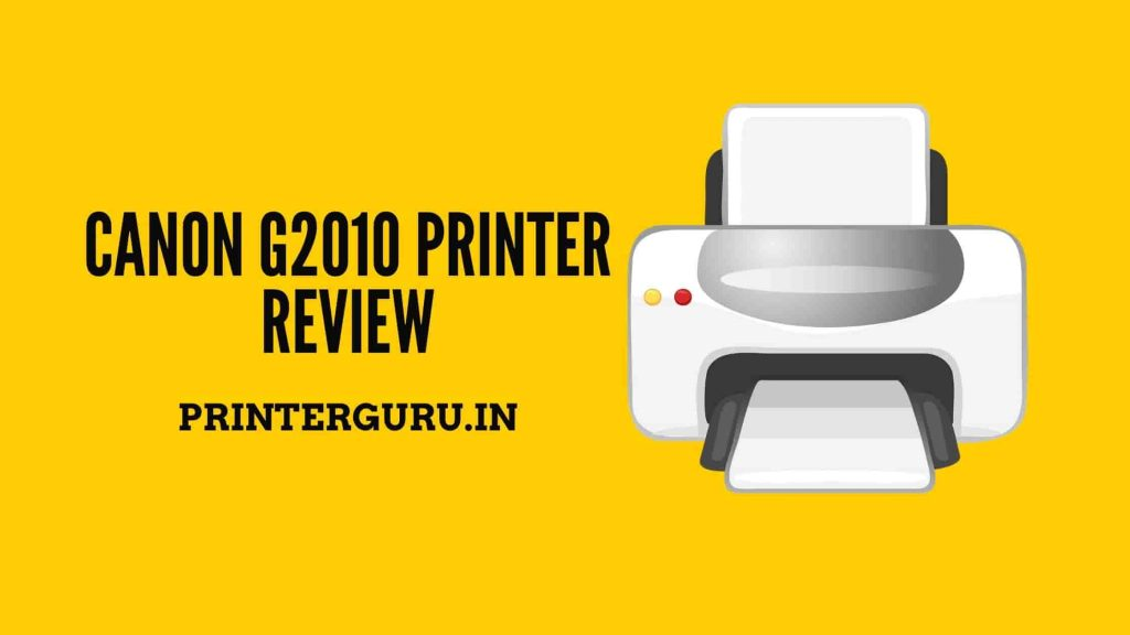 Canon G2010 Review