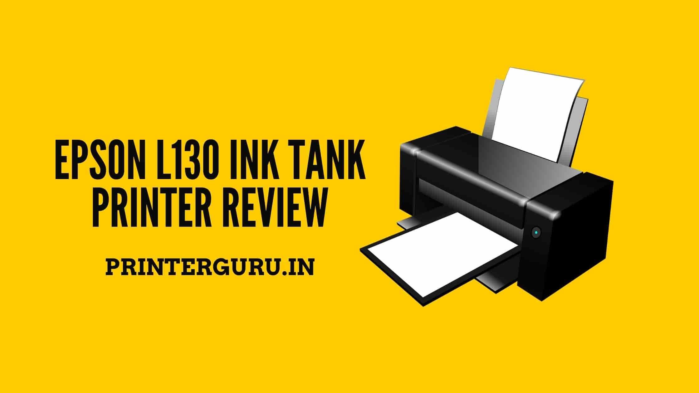 Epson L130 Printer Review
