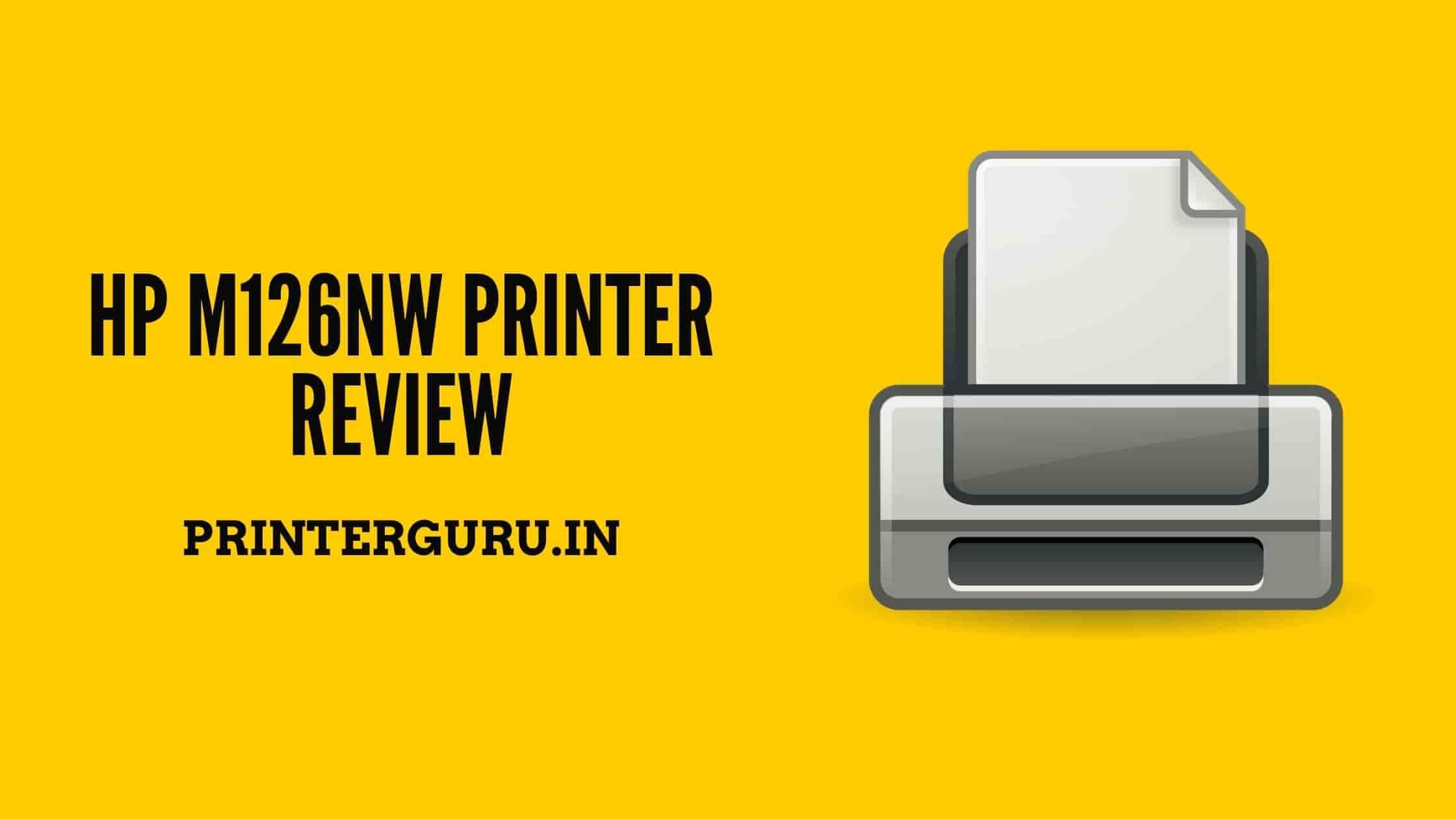 HP M126nw Printer Review